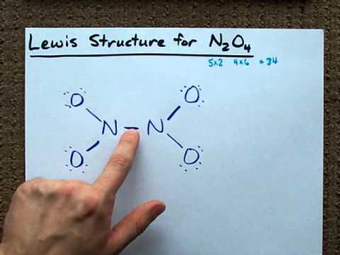 Lewis structure of n2o4 youtube ccuart Choice Image