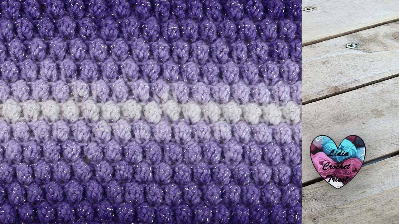 Point Popcorn Tricot Lidia Crochet Tricot How To Crochet