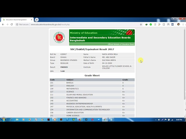SSC Result 2019 With Full Marksheet - educationboardresults