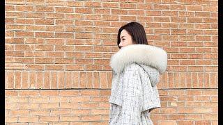 여성 구스덕다운 페이크퍼 슬림자켓 여자겨울패션코디 여성…