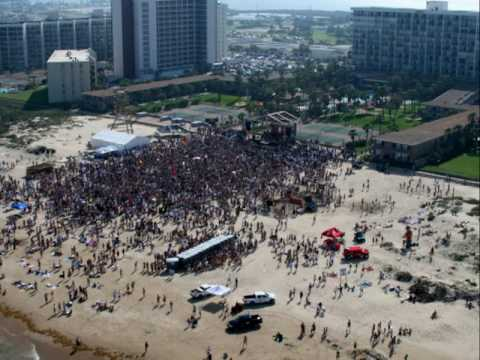 South Padre Island Spring Break Fly Over 2007 Youtube