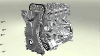 Animation 3D montage moteur