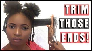 Trimming My 4C Natural Hair   Feyisetan Idowu thumbnail