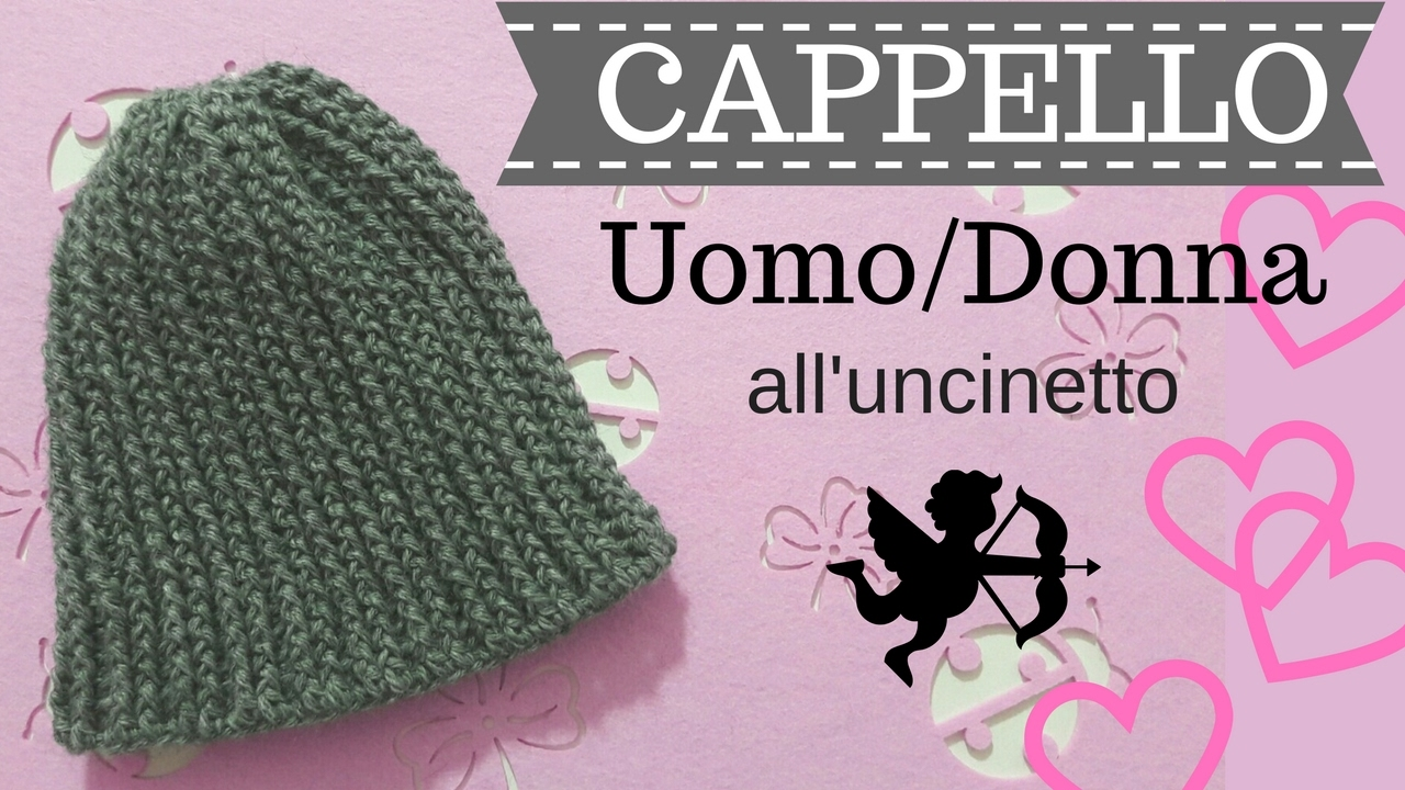 Cappello Uomodonna Alluncinetto Punto A Rilievo Davanti E