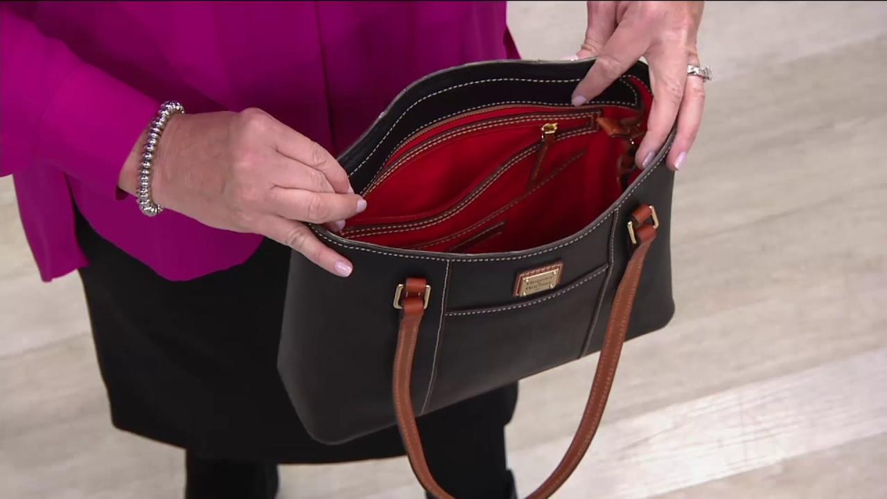 81ad8189e9b4 Dooney   Bourke Pebble Leather Small Lexington Shopper on QVC - YouTube
