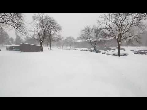 Snow in Auburn Hills  michigan