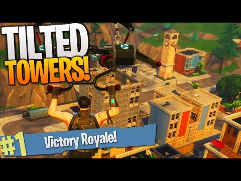Fortnite NEW MAP UPDATE! - Tilted Towers VICTORY ROYALE Gameplay!