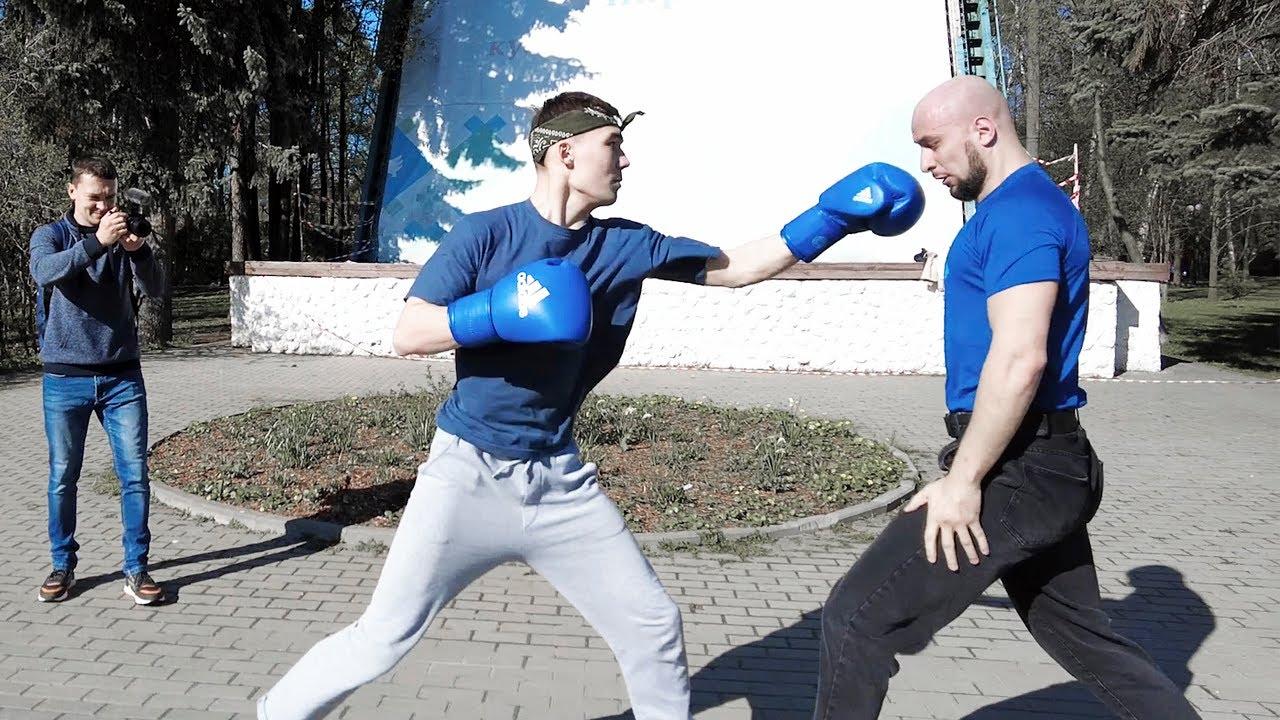 Попали на казахов / Попробуй выруби боксера за деньги