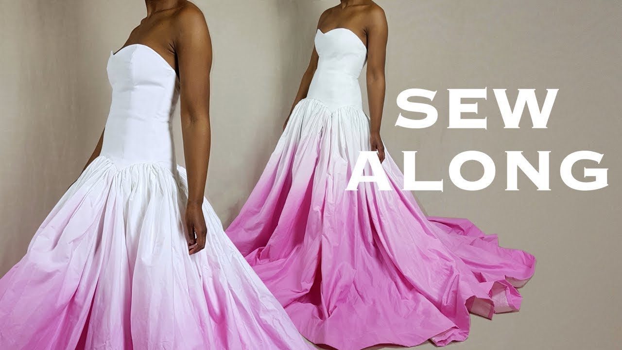 Diy prom wedding ball gown dress sew along youtube for How to make a wedding dress