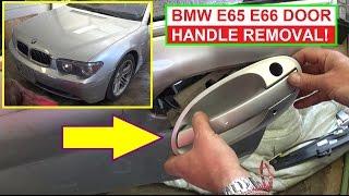 BMW E65 E66 Exterior Door Handle Removal and Replacement 745i 745li 735i 750li 760li 750i 740d 745d