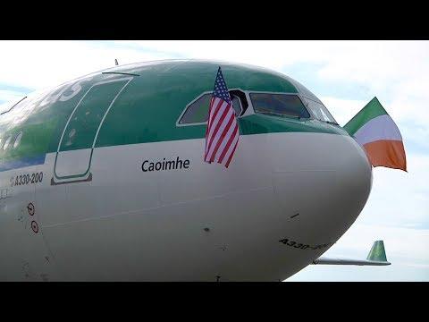 Aer Lingus Cockpit Video   Dublin to Seattle   Inaugural SEA Flight