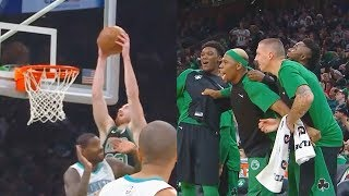 Gordon Hayward Shocks Celtics Crowd With Alley-Oop Dunk That Caused His Injury! Celtics vs Hornets