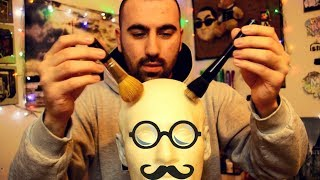 ASMR Microphone Brushing | Binaural Dummy Head Mic (SR3D)