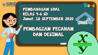 Pembahasan Soal TVRI SD 4-6 - 18 September 2020 - Pembagian Pecahan dan Desimal #BelajardariRumah
