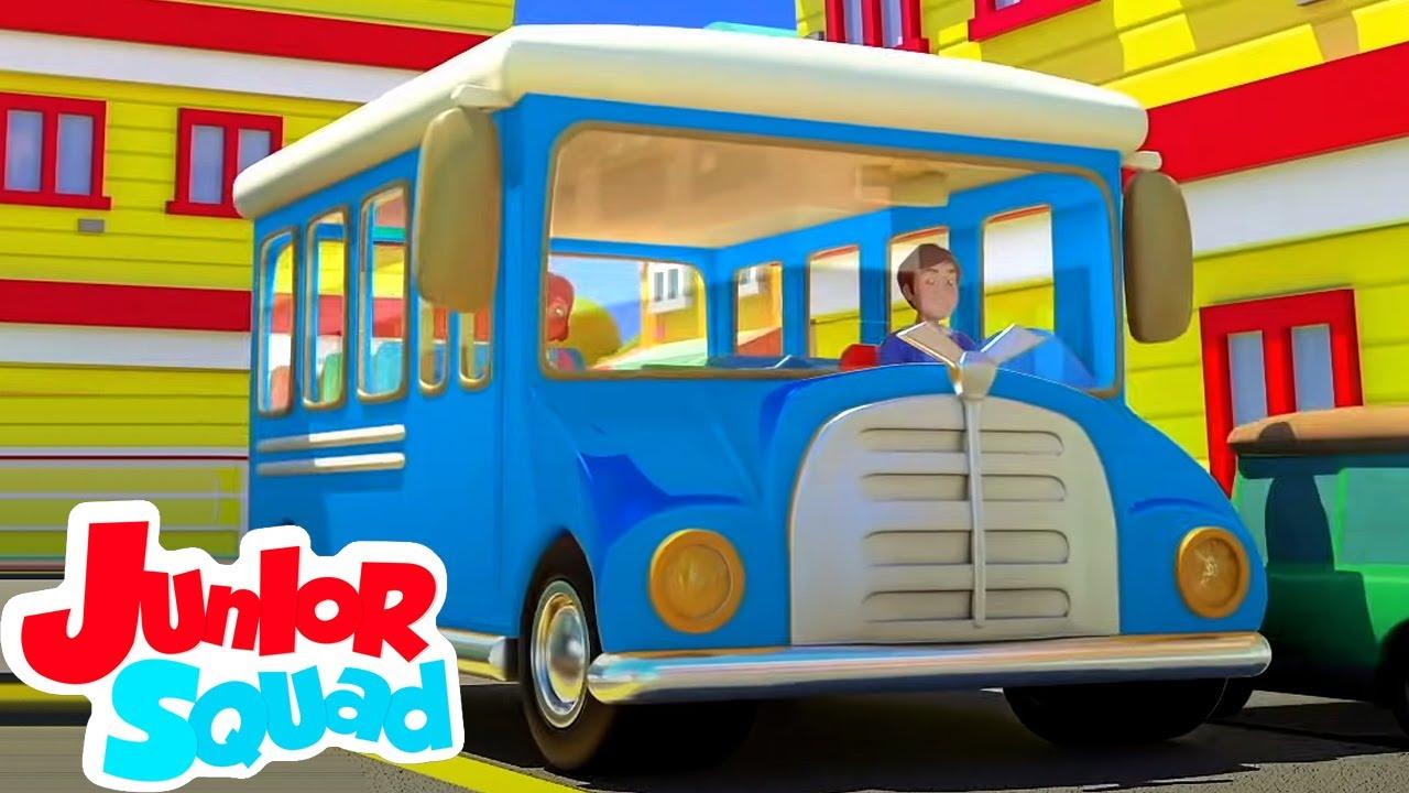 Rodas do ônibus | Johny johny sim papai | Junior Squad Português | Desenho animado