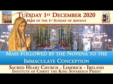 Tuesday 1st December 2020: Mass of the 1st Sunday of Advent
