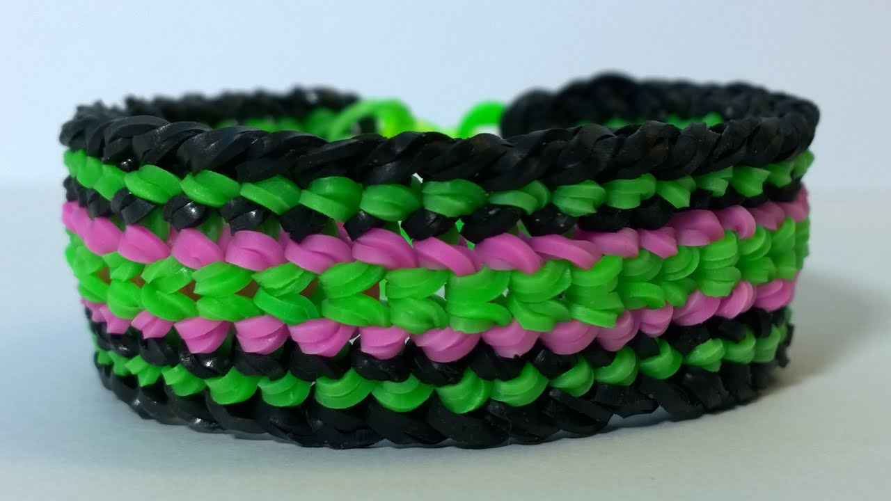 Rainbow Loom Dragon Scale Cuff Double Banded Bracelet Diy You