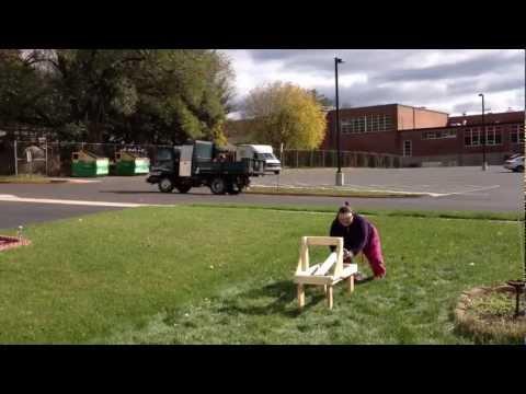 Test firing the Wyvern Catapult