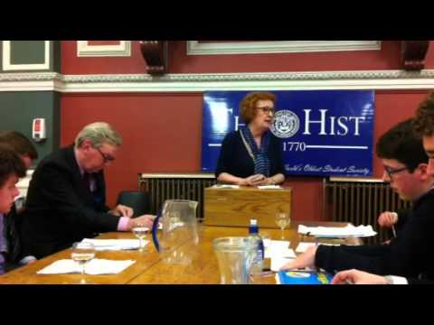The Hist 1916 Debate - Ruth Dudley Edwards