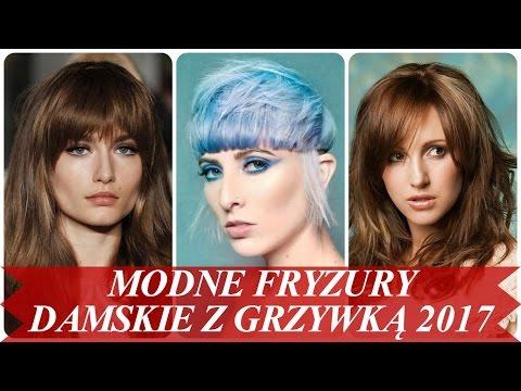 Modne Fryzury Damskie Z Grzywką 2017 Youtube