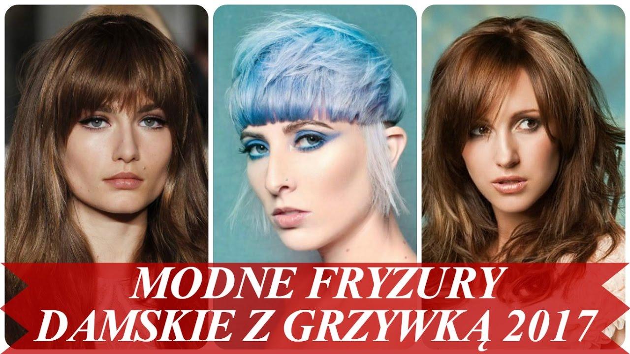 Modne Fryzury Damskie Z Grzywką 2017