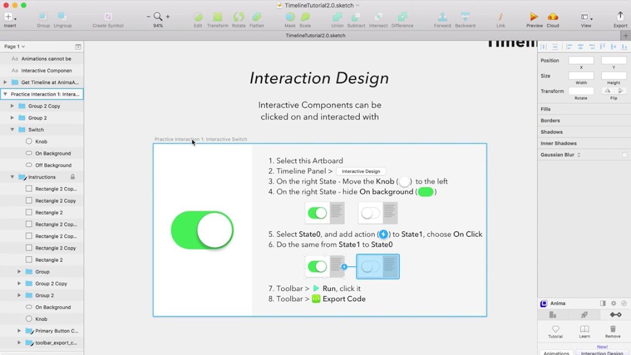Timeline 2 0 - Interaction Design for Sketch - Beginner Tutorial