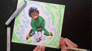 ROCK LEE! GATE OF JOY! | ZainArtz | Speed Drawing |