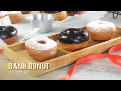 #CookyVN – Cách làm DONUT ngon ngon dễ làm lại còn xinh xắn | How to make Doughnut – Cooky TV