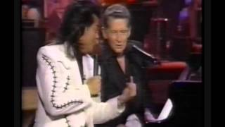 JERRY LEE LEWIS -  MY GOD IS REAL + HAVING FUN WITH MARTY STUART -  1992