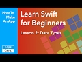 Learn Swift for Beginners - Ep 2 - Data Types