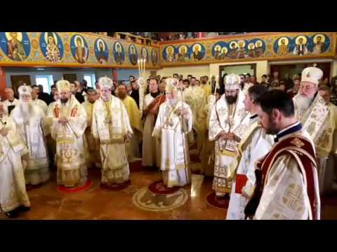 Enthronement of Abp  Nicolae as first Romanian Orthodox Metropolitan of America