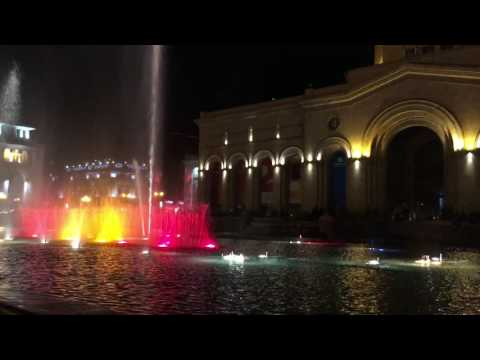 Yerevan - Republic Square fountain show