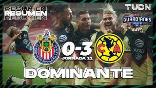 Resumen y goles   Chivas 0-3 América   Torneo Guard1anes 2021 BBVA MX - J11   TUDN