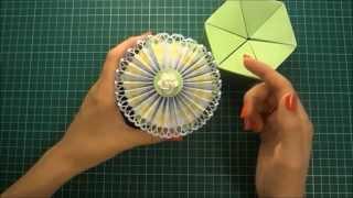 Как сделать цветок розетку из бумаги своими руками - Скрапбукинг мастер-класс / Aida Handmade(Цветок розетка прекрасно украсит праздники, открытки, альбомы, подарочные коробки. Я показываю как быстро..., 2014-08-09T09:06:25.000Z)