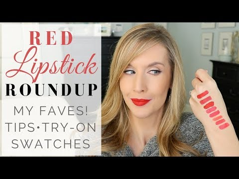 The BEST RED LIPSTICKS for Any Occasion  LIP SWATCHES + TRY ON