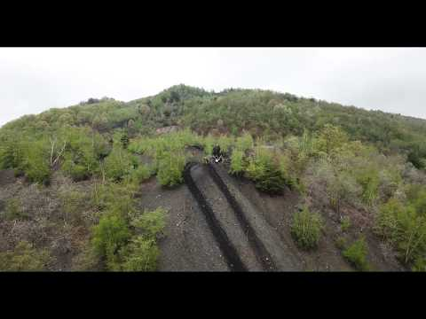 Quads And Bikes Up The Shamokin Coal Hill 4k Drone Video