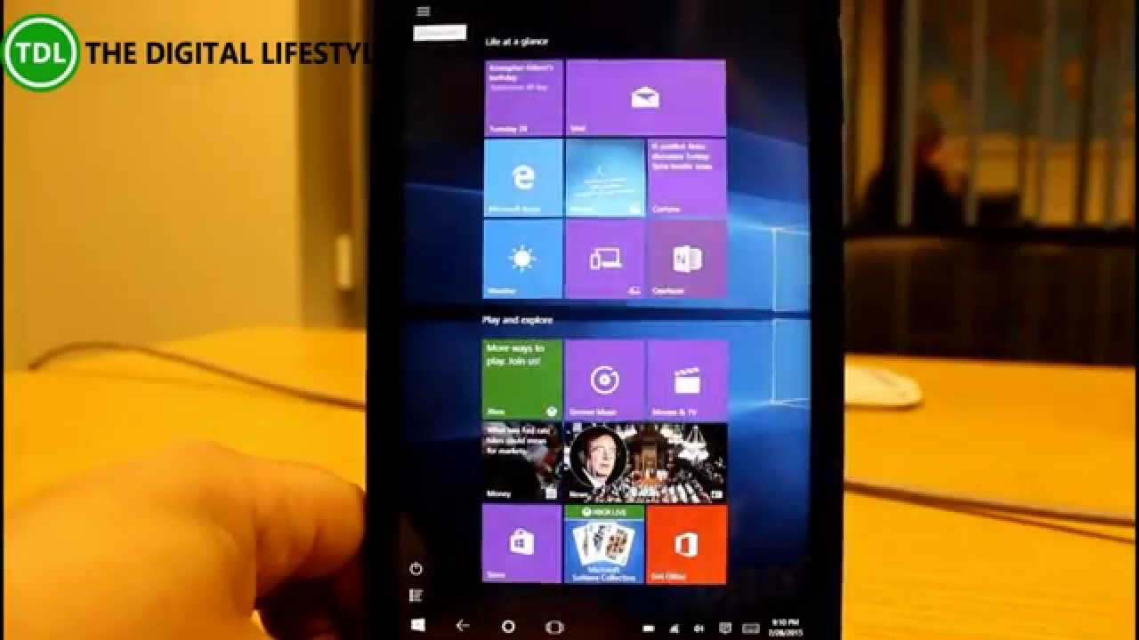 Using Windows 10 on a small tablet, what has changed from Windows 8 1?