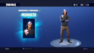 Nouveau Moniker Fortnite Skin Gameplay