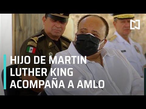 Hijo de Martin Luther King acompaña a AMLO en Oaxaca - Las Noticias