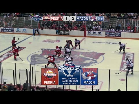 2017 SPHL President's Cup Finals Macon Mayhem vs Peoria Rivermen Game 2