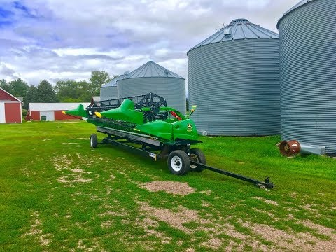 New header and trailer! John Deere 625F & Tricycle Trailer