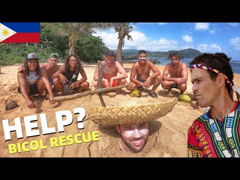 FIGHTER BOYS RESPECT FILIPINO LOCALS – Dangerous Philippines Surf Beach Rescue… HELP!?