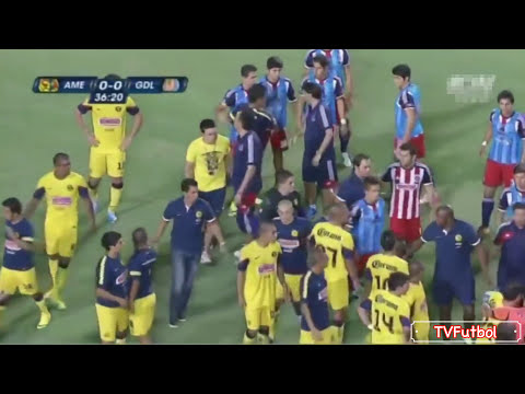 Clasico de Clasicos - America vs. Chivas (Fights, Fouls, Red Cards)