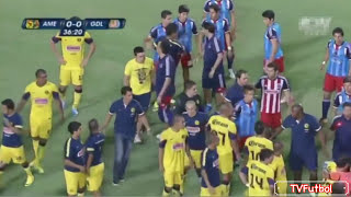 Clasico de Clasicos - America vs Chivas Fights Fouls Red Cards