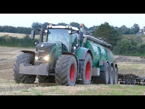 Fendt 939 Vario Injecting Slurry w/ Samson PG25 HWD | Hill Climbing | Danish Agriculture