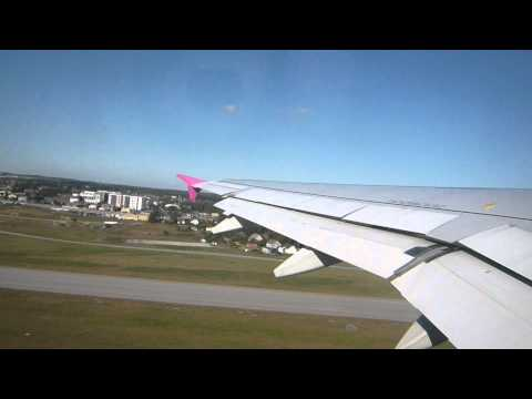 Wizzair takeoff in Gdansk to Cologne during nice weather