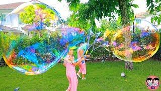 หนูยิ้มหนูแย้ม   เล่นเป่าบับเบิ้ลใหญ่ Bubble