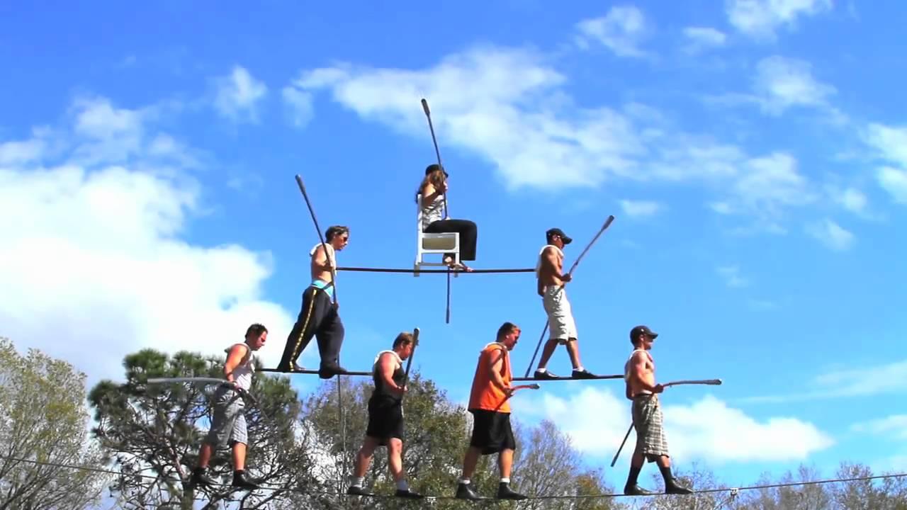 Wallenda 7 person pyramid, training for Hephaestus at the ...