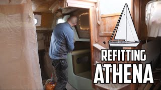 Sail Life - Technical compartment bulkhead - DIY sailboat refit
