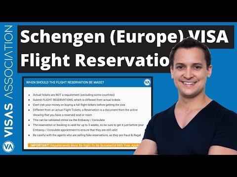 When to Book Schengen Visa Flight Reservations (Europe Visa)